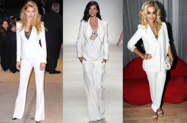 Белые брючные костюмы женские