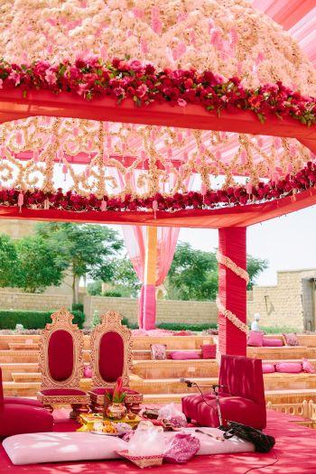 Wedding altar at Suryagarh #India #wedding #pinkwedding