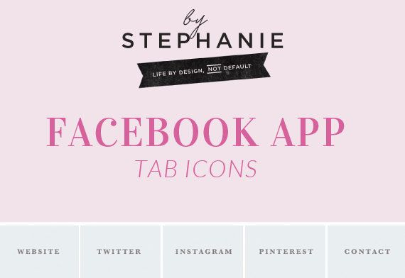 Custom Facebook Tab Icons - Social Icons - Social Media Buttons - Branding - Flattened Ready To Use Tabs - INSTANT DOWNLOAD by ByStephanieDesign on Etsy