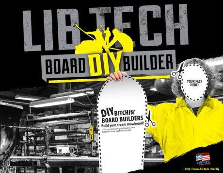 Lib Tech's New DIY Board Builder – Design Your Dream Snowboard