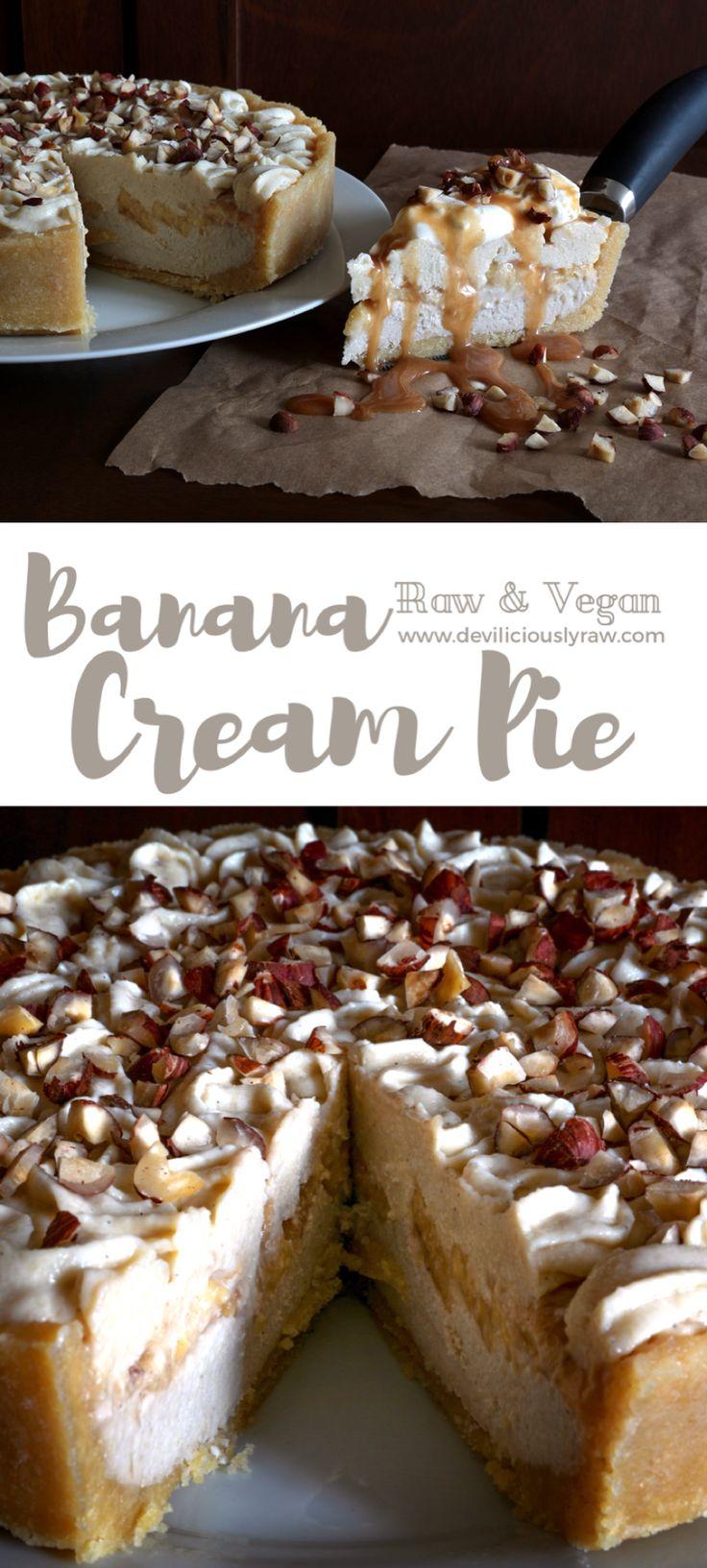 #raw #vegan Banana Cream Pie | Deviliciously Raw