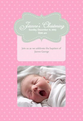 54 best Printable Baptism Christening invitations images on Pinterest