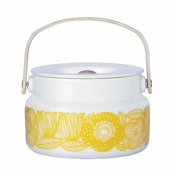 Marimekko Geranium White/Yellow Serving Pot - Click to enlarge