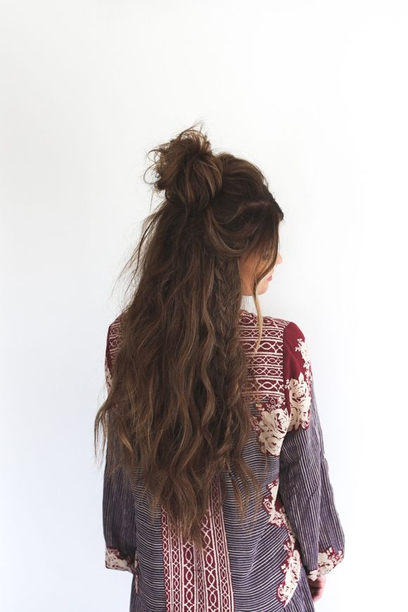 half up top knot