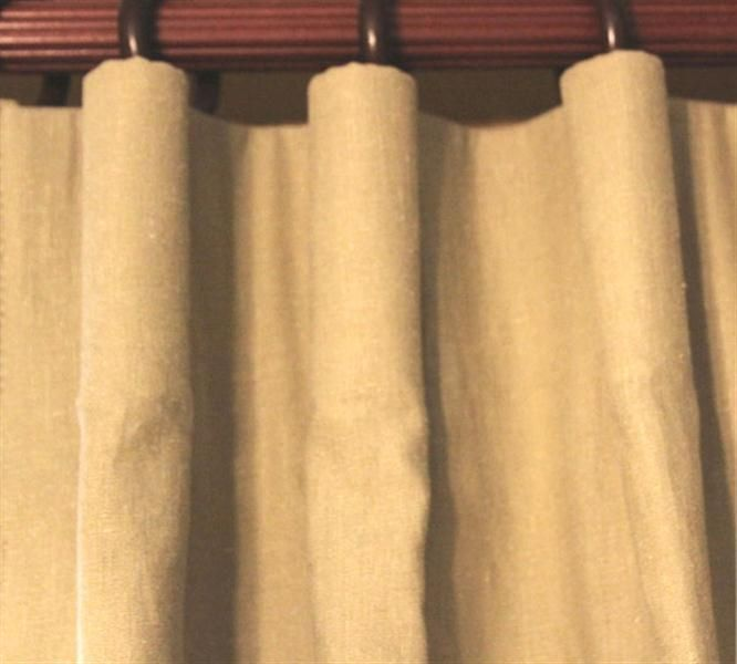 cartridge pleat curtains in the Courtrai Glazed Linen