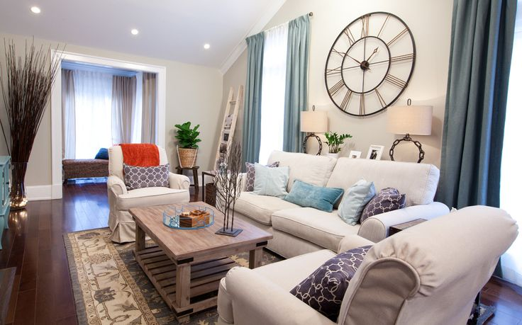 Property Brothers Best Room Reveals. This configuration with reclining sofa and reclining swivel chairs!