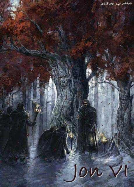 AGOT Jon VI banner - the Night's Watch oath by Didier Graffet