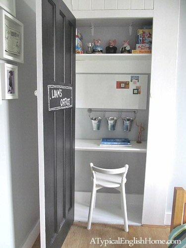 boys office {closet} | atypicalenglishhome