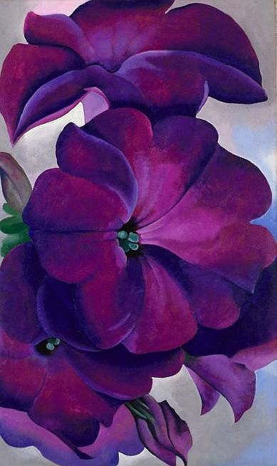 Beautiful purple lavender By Georgia O'keeffe