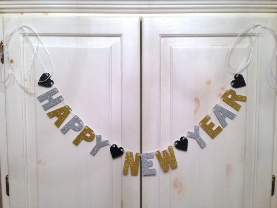 Happy New Year Banner  Decorations / Photo Prop by hawthorneave, $24.00