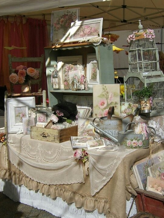 Vintage vibe craft show table