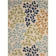 Brockenhurst Ivory/Green/Blue Indoor/Outdoor Area Rug