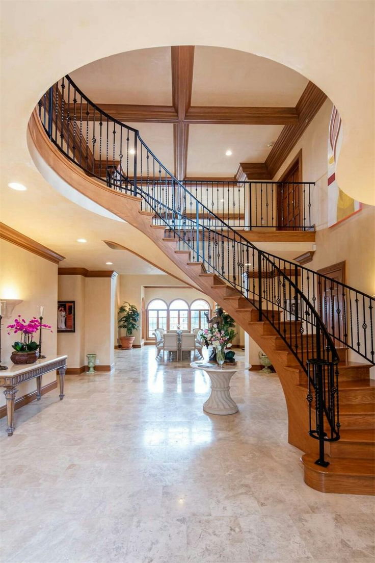 Nothing beats a curved staircase!
