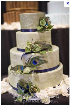 Peacock feather wedding cake. Gorgeous!!!!