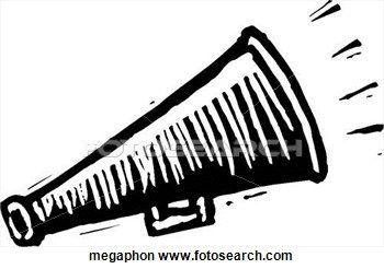 Clipart - porte voix. Fotosearch - Recherchez des Clip Arts, des Illustrations, des Dessins et des Images Vectorisées au Format EPS
