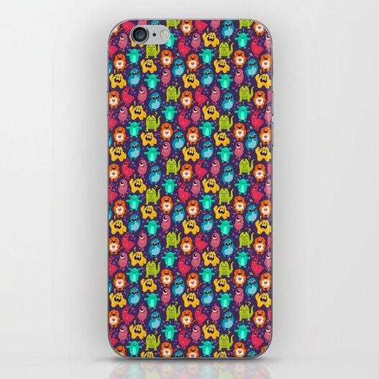 Monster Love seamless pattern iPhone & iPod Skin by Erika Biro | Society6