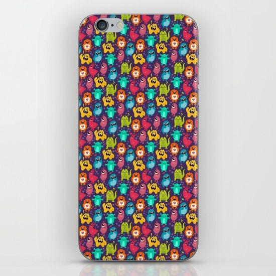 Monster Love seamless pattern iPhone & iPod Skin by Erika Biro | Society6