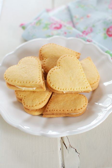 Custard Cream Hearts. Recipe by Nigella Lawson.