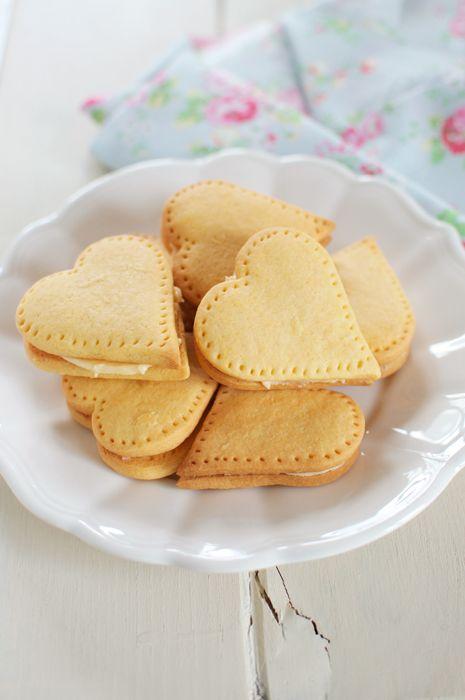 Custard Cream Hearts. Recipe by Nigella Lawson.