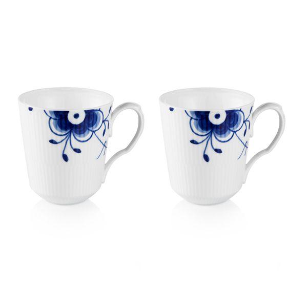 Blue Fluted Mega - 2 pcs. mugs 38 cl