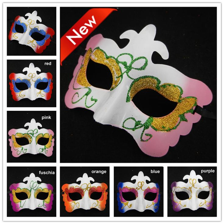 Бабочка маскарадные маски для вечеринки свадьба украшения хэллоуин маска половина лицо глаз маска 100 pcs/lot