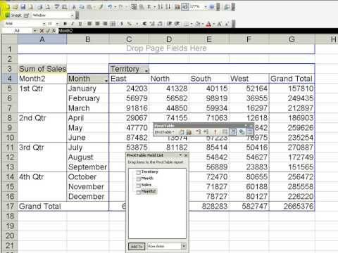 how to create a pivot table using openpyxl