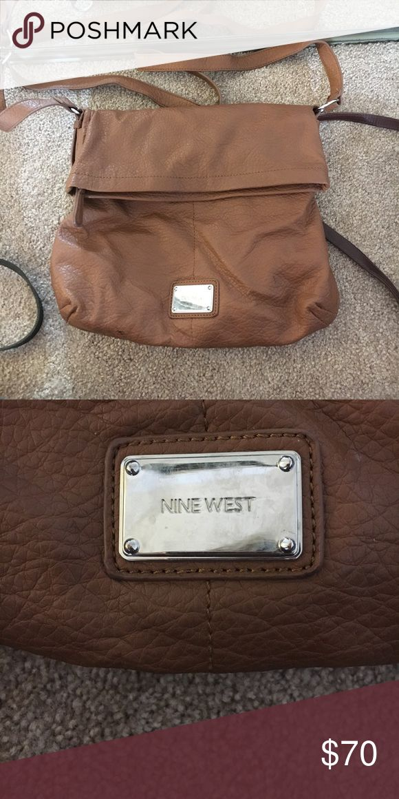 Brown leather purse Camel brown leather purse Nine West Bags