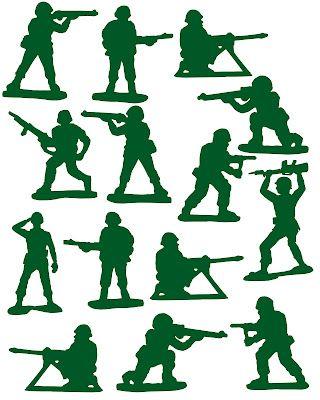 Vinyl: Army Men, so cute for a boys room or scrapbook page!