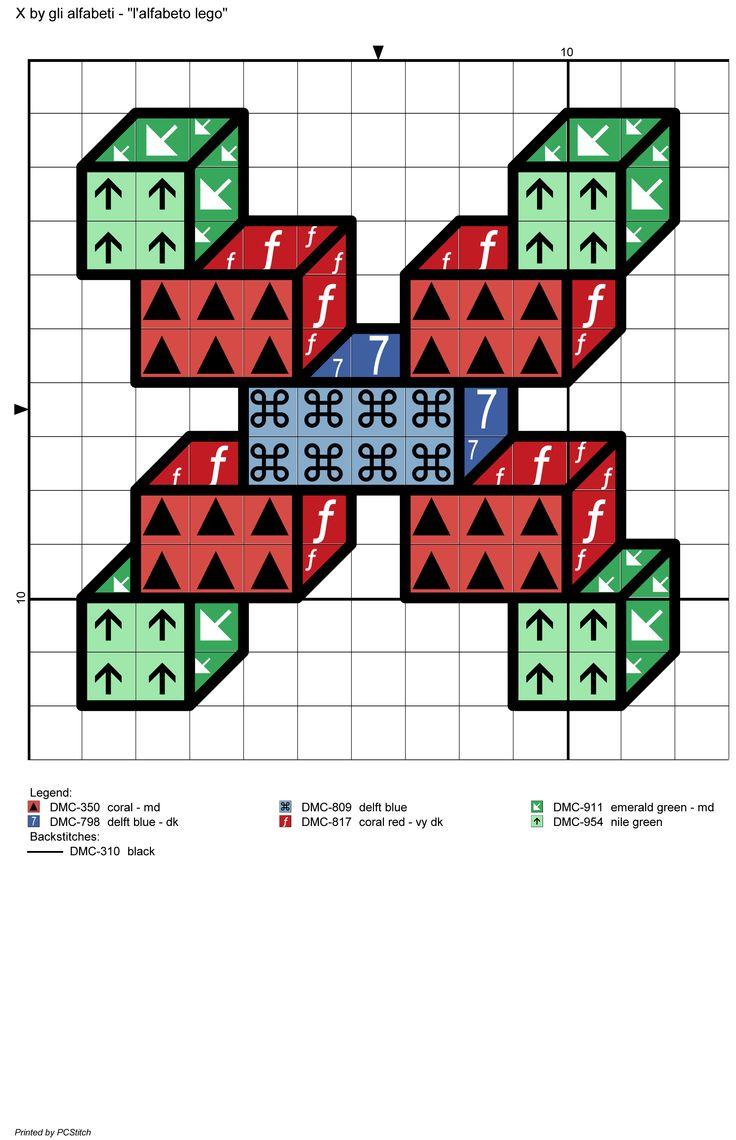 alfabeto lego: X