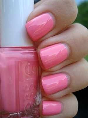 One of my all-time favorites! Essie - Knockout Pout. Perfect pink. - Click image to find more nail art posts