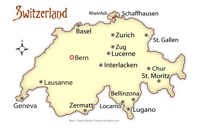 Discover Swizerland, From Where to Go to How to Get There: Map of Switzerland: Best Swiss Cities to Visit