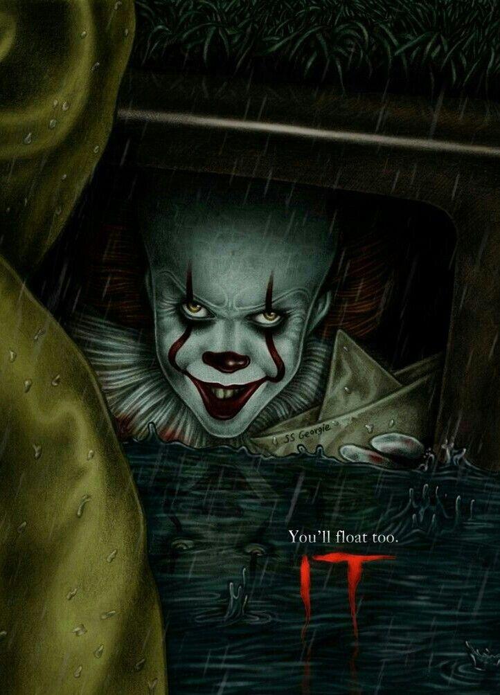 "It /""You/'ll Float Too/"" Street Art Poster 24 X 36"