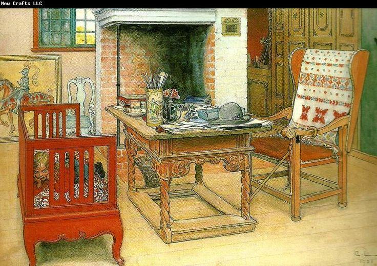 Carl Larsson titt-ut akvarell 1901 se*