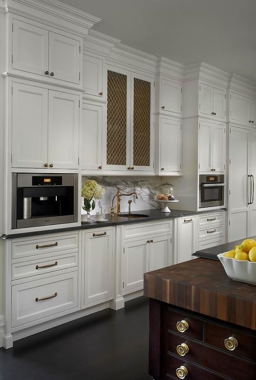 Amazing Kitchen Features White Cabinets Paired With Gray
