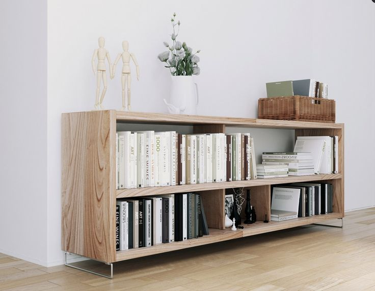 Apartments, Awesome Exclusively Scandinavian & Parisian Apartments In White : Scandinavian Apartment Organic Natural Wood Storage  ~ dartbits.com