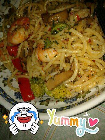 spaghetti olio: