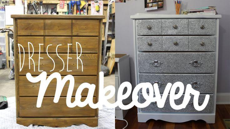 DIY: Dresser/Furniture Makeover With Glitter!