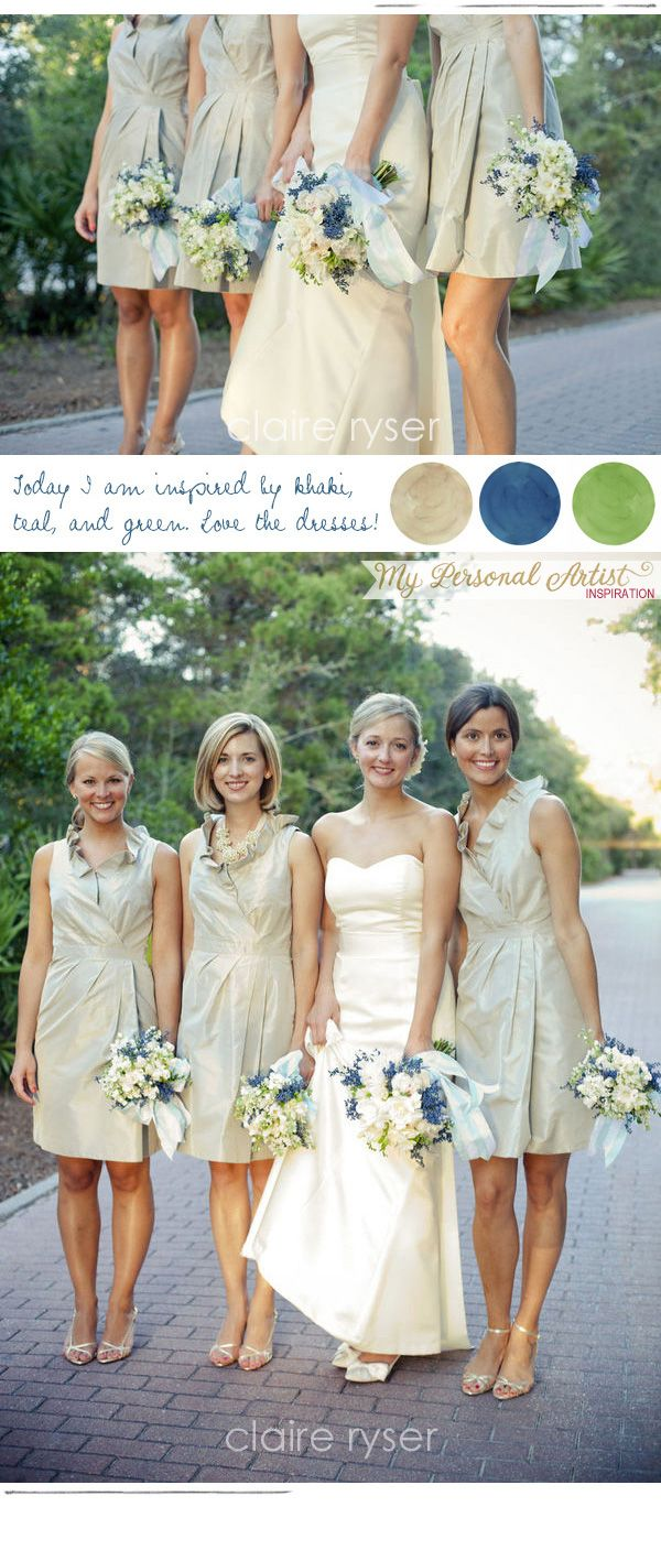 Currently Inspired By Khaki, Teal Blue, and Green | Unique Wedding Invitations & Custom Handmade Invitations | My Personal Artist