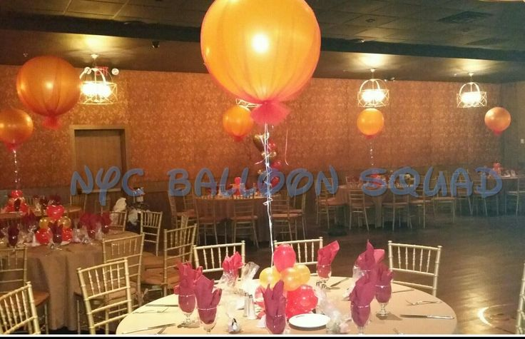 Nyc balloon squad centerpieces sweet weddings