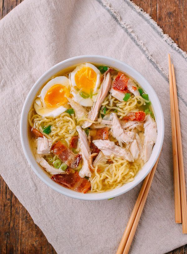 One of my all-time favorite Thanksgiving leftovers recipes, this turkey ramen with crispy bacon, scallions, and an egg will satisfy all your ramen cravings.