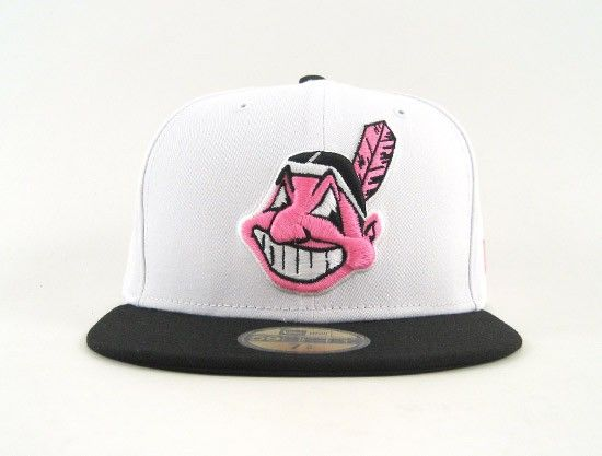Cleveland Indians 59fifty New Era Fitted Hats (Nike Air Foamposite Pro Elephant Print White Black Pink)