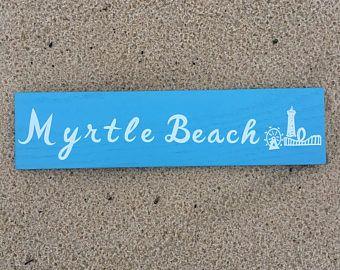 Myrtle Beach Wall Sign #myrtlebeach #boardwalk #amusement #summer #summerfun #summervacation #beach #sandyshores #carolina #southcarolina #handmade #woodsign #madeintheusa #solidwood