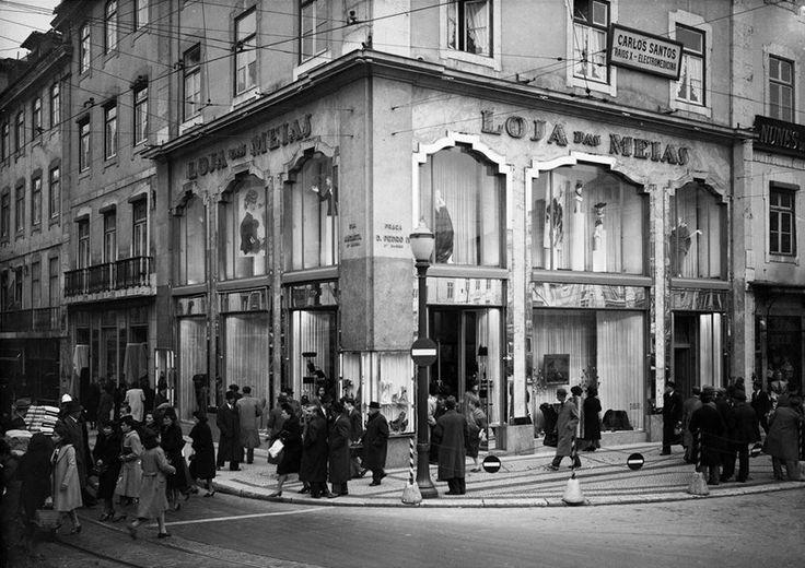 Loja-das-Meias - Rossio - 1948