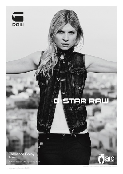 Clemence Poesy is the newest face of G-Star