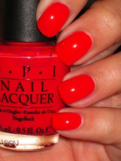 OPI Cajun Shrimp. Just had my nails painted this color! L❤VE it!  Not a red and not an orange!