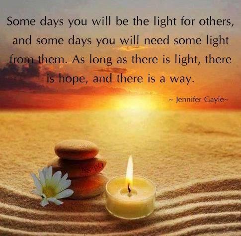 Dok postoji svjetlost, postoji i nada :*