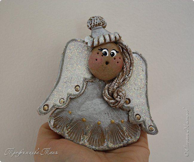"""Продолжение темы """"Ангелочки из соленого теста"""", а также упаковка подарков своими руками фото 3"""
