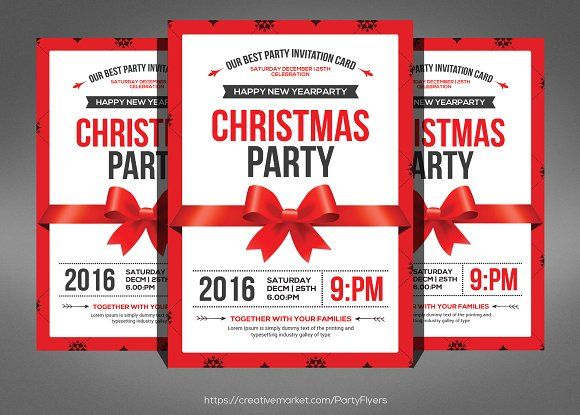 20 best 15+ Christmas Flyer Template PSD, Vector EPS and InDesign - luncheon flyer template