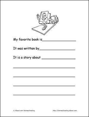 My Kindergarten Portfolio - My Kindergarten Portfolio Cover Page. Print the Kindergarten Portfolio Cover Page, color and add to portfolio.: My Favorite Book