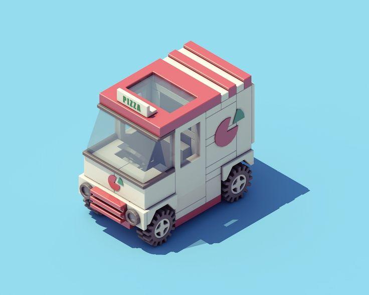 """다음 @Behance 프로젝트 확인: """"Pizza Car"""" https://www.behance.net/gallery/27317441/Pizza-Car"""